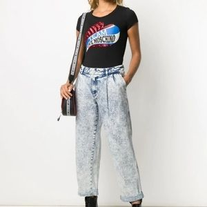 NEW Love Moschino black t shirt size L